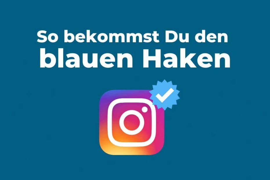 Blauer Haken bei Instagram