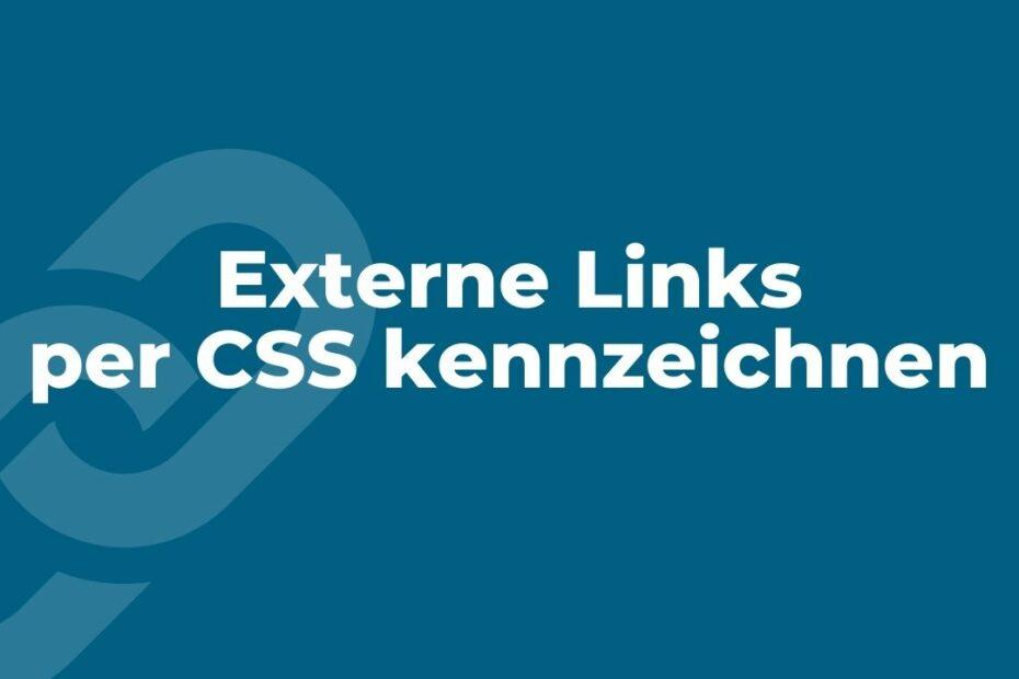 Externe Links per CSS kennzeichnen