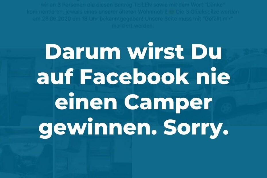 Camper gewinnen auf Facebook